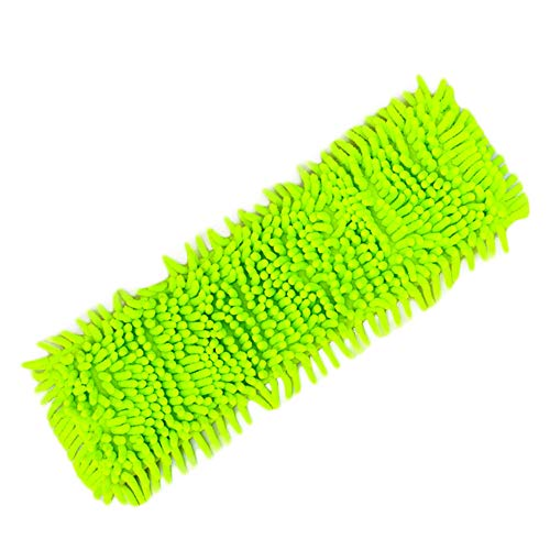Yu2d  Home Cleaning Pad Chenille Household Dust Mop Head Replacement(Green)