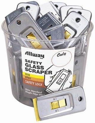 Allway Tools GS50 50 Piece Safety Glass Scraper Bucket by Allway Tools [並行輸入品]