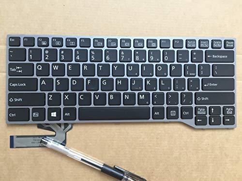Genuine New US for Fujitsu Lifebook E734 E743 E744 Small Enter Laptop Keyboard ()