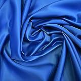 Reliable Bedding 100% Pure Silk Satin Sheet Set 4pcs, Silk Fitted Sheet 15'' Deep Pocket,Silk Flat Sheet & Pillowcases Set !!! Olympic Queen, Medium Blue