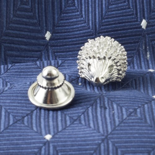 Tateossian Men's Rhodium Plated Red Swarovski Hedgehog Tie Pin by Tateossian (Image #3)