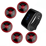 SINGCALL Call Button Service Paging System Medical Alert Waiter Nursery Pager System,Pack of