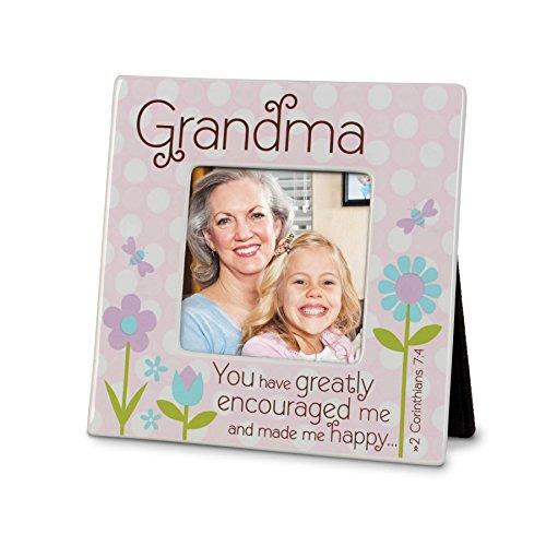 Lighthouse Christian Products Grandma Dots Ceramic Frame, 4 x - Dot Frame Ceramic