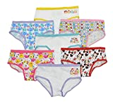 Disney's Tsum Tsum Girls 7 Pack Hipster Panties (4, Assorted)