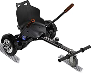 Qoovi Cool Mini Hoverboard Kart Accessories Adjustable for -All Heights- All Ages-Two Wheel Self Balancing Scooter -Compatible with All Hoverboards,Like A GO-Kart(Not Included Balance Board)