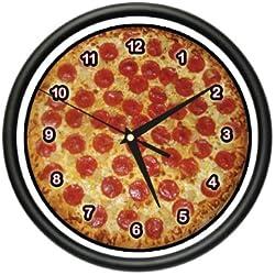 Pizza Wall Clock Place Kitchen Decor Italian Food Art