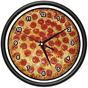 PIZZA ~Wall Clock~ place kitchen decor italian food art