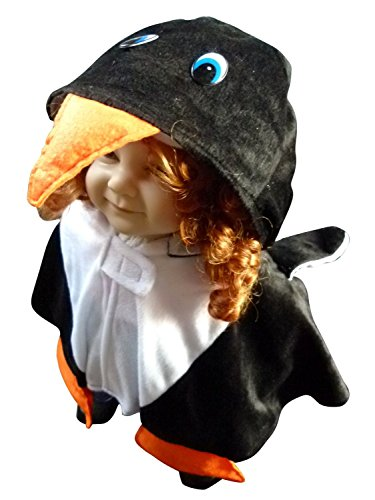 [Fantasy World Boys/Girls Penguin Halloween Cape Costume, One Size, An67] (Toddler Frog Prince Halloween Costume)