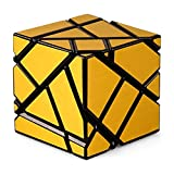 JIAAE 3X3 Allotype Rubik's Cube High Difficulty Intelligence Rubik Children Puzzle Toy,Gold