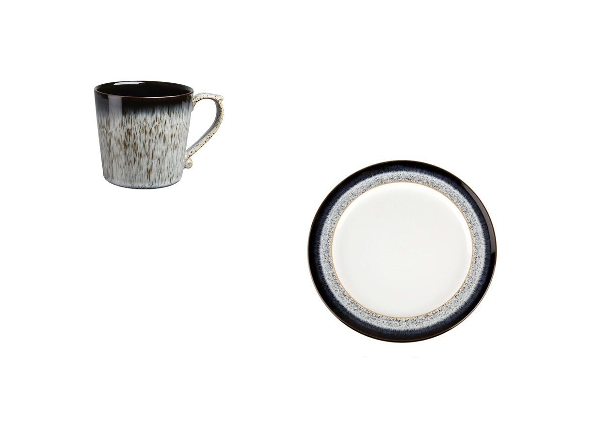 Denby Halo Mug and Wide Rimmed Small Plate, Set of 2