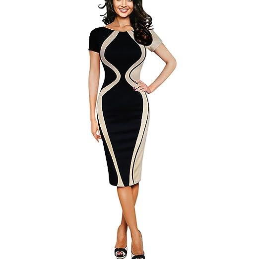 e3b33f6a50 Hotkey® Women Dresses Short Sleeve Cocktail Party Evening Bodycon Dress  Beach Sundress for Summer