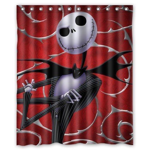 Hot Selling Custom Nightmare Before Christmas Waterproof Fabric Bathroom Shower Curtain 60
