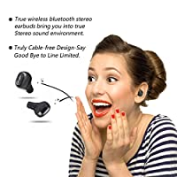 LiteXim True Wireless Earbuds Bluetooth Headphones with Charging Box Noise Cancelling Sweatproof Headset,Bass Effect,Ergonomic Design Earpieces Invisible In Ear Earphones for Sports,Work,Travel (Grey) by LiteXim