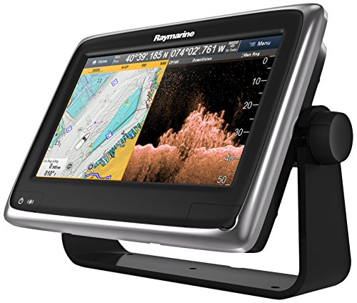 Raymarine a98 9-Inch Multifunction Display with DownVision/Wi-Fi/CPT-100 Transom Mount Transducer and USA C-Map Essentials Fish Finders And Other Electronics Raymarine