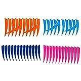 non-brand Baoblaze 48 Piezas De Escudo De Tiro con 4 Pulgadas Pavo Natural Flecha Plumas Fletchings Vanes