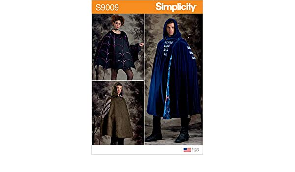 Simplicity Unisex Cape//Cloak Costume//Cosplay Sewing Pattern Halloween S9009 OS
