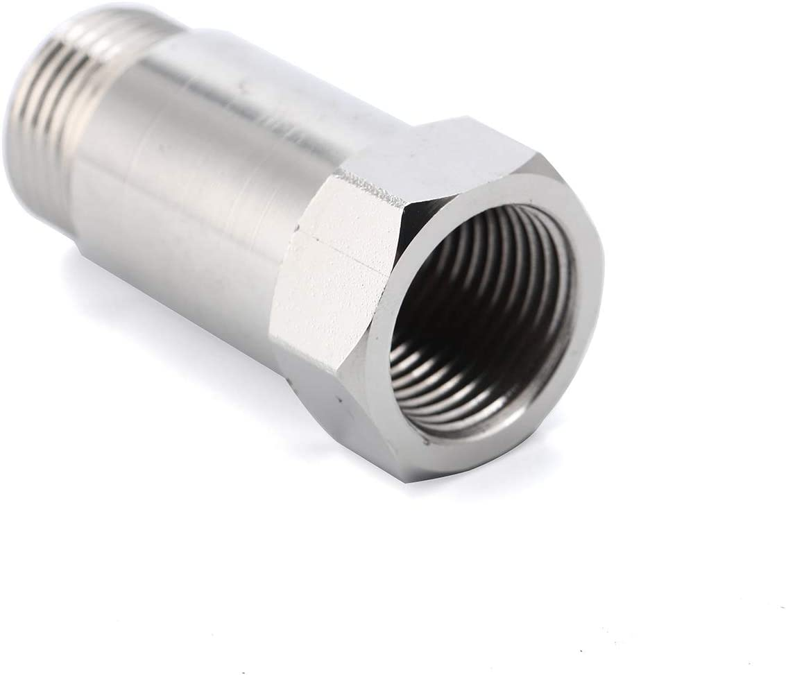 45mm O2 Oxygen Sensor Mounting Boss Fitting Bung Accessories Straight Threaded M18 x 1.5 Pack 2