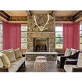 Macochico Outdoor Indoor Sheer Curtains 52W x 102L (1 Panel) Nickle Grommet Burgundy Light Voile Drape for Bedroom Living Room Cabana Gazebo Pergola Porch