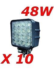 """MIRACLE 10 X 48W 4,3"""" 4560LM Foco de trabajo LED de utilizarse como luces de carretera de cruce fanalino luz antiniebla delantera y trasera para vehículos todoterreno etc barcos tractores, camiones, vehículos industriales tensión continua 12 V 24 luz brillante"""