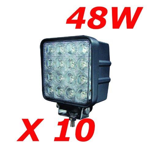 """68 opinioni per MIRACLE 48W 4.3"""" 4560LM faro da lavoro a LED da usare come proiettore"""