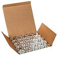 Vivaplex, 25 frascos de plástico transparente de 10 gramos, envases de cosméticos, con tapas.