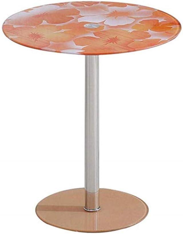 Hot Koop Kutera Bijzettafel, salontafel, eenvoudige mini ronde tafel, gehard glas, sofa, zijkast, hoekbank, nachtkastje, voor woonkamer, slaapkamer, 18 x 20 inch H B ppwYFQr