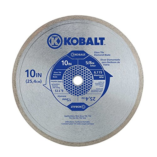 Kobalt 10 Inch Glass Tile Diamond Blade