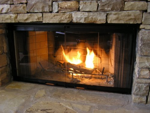 "Heatilator Fireplace Doors - Black 36"" Series Glass Doors - DM1036"