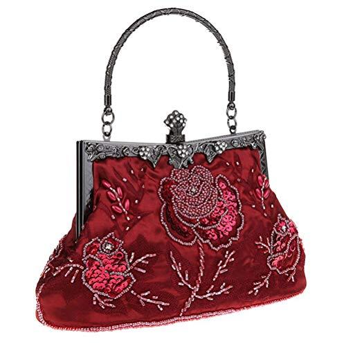 Mariage Soirée Pochette burgundy Vintage À Embrayages Main Sac Élégantes Sac Femmes Gshe Sac pour Cheongsam Soirée De Femmes Bag wqcT4AcIUX