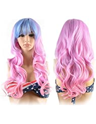 Amazon pink hair extensions extensions wigs hair wigs for women image gradient color hair extensions pmusecretfo Image collections