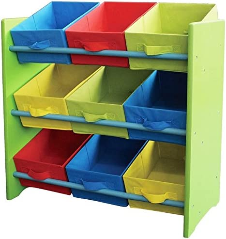 Estantería Infantil con 9 Huecos Color Verde
