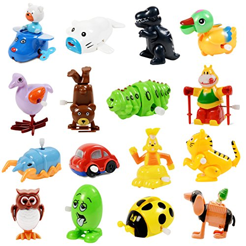 - Wind Up Toy,16 Pack Assorted Clockwork Toy Set(Contents and Color May Vary),Original Color Wind Up Animal Party Favors Toy Great Gift for Boys Girls Kids Toddlers