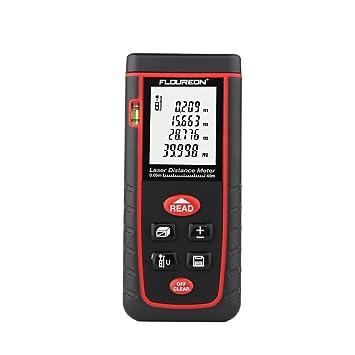 Floureon Laser-Entfernungsmesser Distanzmesser Distanzmessgerät 0.05 bis 40m distanz Messgerät Hohe Präzision inkl. Schutztas