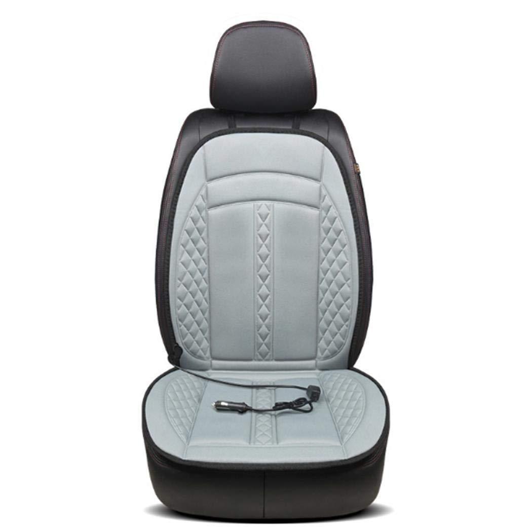 pikins Cuscino del Sedile riscaldato Riscaldatore del seggiolino Auto da 12 V Design Elegante Antiscivolo Pad riscaldante Scaldino Invernale Universale