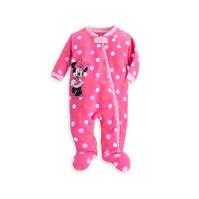 Disney Tienda Minnie Mouse Lunares Manta Sleeper Pijama para bebé, Color Rosa - Rosado -