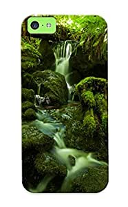 EzF67nzcpt Forest Jungle Green Stream Timelapse Moss Fern Rocks Stones Awesome High Quality Iphone 5c Case Skin/perfect Gift For Christmas Day