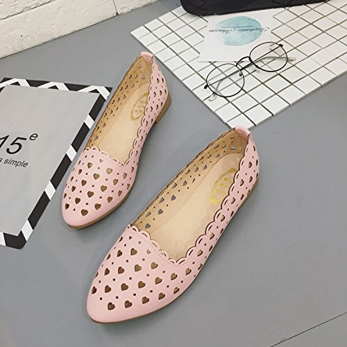 ITTXTTI Sandalias para Mujer Xia Pingdi Wild Bohemia un par de Zapatos para Llevar Sandalias, 39, Tela Verde rosa