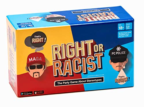 Right Or Racist - Funny Secret Santa Gifts Adult Party Game Hilarious Drinking NSFW Game - Cards About Humanity - Birthday Gift Idea (Bad Christmas Gifts)