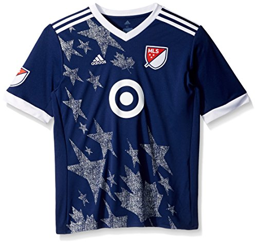 adidas MLS All Star Game Youth Unisex MLS All Star Game Youth Replica Jersey, Large, Dark Blue
