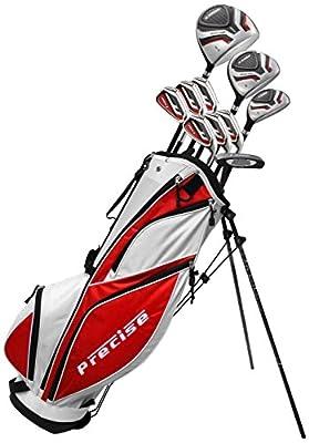 Precise Men's 69000G-MRH MDX II Complete Golf Set (Right Hand, Mid Flex Shafts, Graphite)