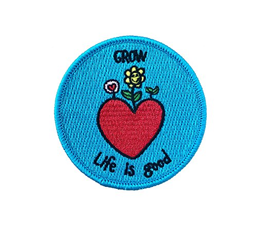 Grow Life is Good Patch Embroidered Sew On/Iron on 3