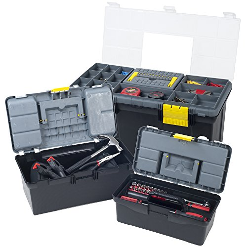 Stalwart 75-MJ22132 Parts & Crafts 3-in-1 Tool Box Storage (Crafters Tool Box)