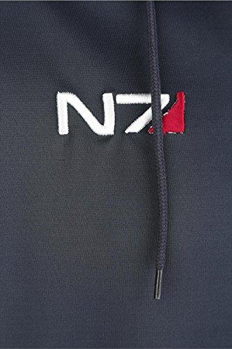 logo Azul N7 Andromeda Chaqueta negro Mass Effect Oscuro con capucha wqxX88Y6I