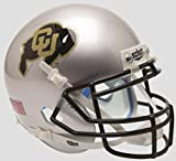 NCAA Colorado Buffaloes Mini Authentic XP Football Helmet, Silver Alt. 4, Mini