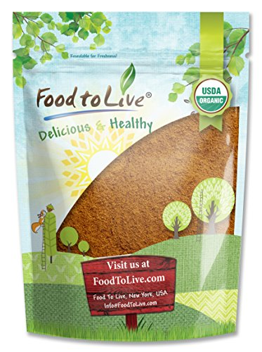Food to Live Certified Organic Cocoa Powder (Natural, Non-Dutched, Non-GMO, Kosher, Unsweetened, Fair Trade, Bulk) (8 Ounces)