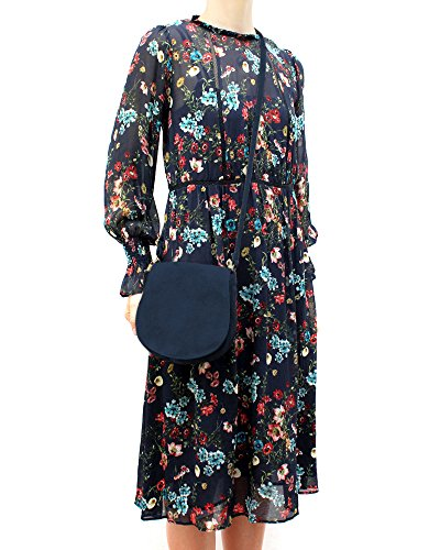 ImiLoa Ledertasche klein schwarz braun blau grau Lederhandtasche Umhängetasche echt Leder Tasche Wildleder Handtasche Dunkelblau 5oQnaU3