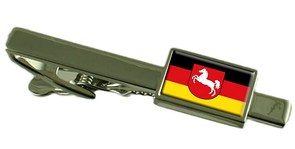 Keepsake Engraved Personalized Case Lower Saxony Civil Flag Tie Clip Bar 55mm