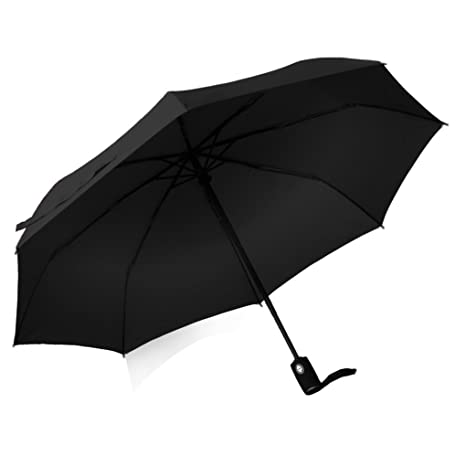Geekerbuy Windproof Umbrella Compact Travel Umbrella Automatic Open and Close Rain Gear for Women Men Girls