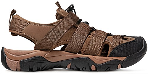 ATIKA AT-M107-BRN_Men 11 D(M) Men's Sports Sandals Trail Outdoor Water Shoes 3Layer Toecap M107 by ATIKA (Image #7)