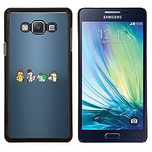Qstar Arte & diseño plástico duro Fundas Cover Cubre Hard Case Cover para Samsung Galaxy A7 A7000 (Meter Hipsters Monster)